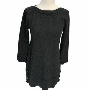 NWT Cable & Guage Grey Tunic Sweater 3/4 S…